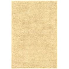 Shaw Living�Shaggedy Shag 5-ft x 7-ft Rectangular Beige Solid Area Rug
