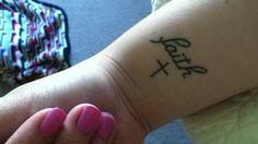 wrist tattoo, but flip around