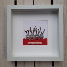Christmas Pebble Picture, Reindeer Pebble art, Family gift, Framed Christmas present, Christmas decor, Christmas decoration, Christmas tree, Anselmo Pebble Art
