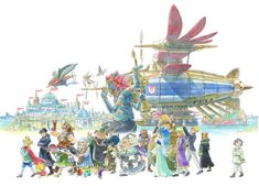 Sky Pirates is official concept artwork for role-playing video game Ni no Kuni II: Revenant Kingdom. The game was developed by Japanese studio in close cooperation with animation studio Ghibli, and features character designs by Yoshiyuki Momose. Studio Ghibli, Ni No Kuni 2, Pirate Art, Game Character Design, Character Art, Game Concept Art, Video Game Art, Video Games, Costume Ideas