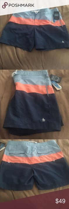 Penguin men's swim shorts trunks nwt New with tags penguin brand swim shorts. Size 36 waist. Original Penguin Swim Swim Trunks