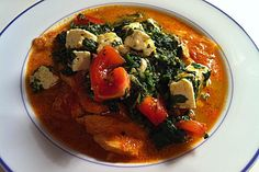 Indisches Butterhuhn mit Palak Paneer (Rezept mit Bild)   Chefkoch.de