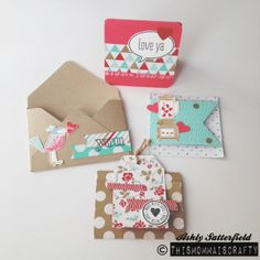 Mini valentines, more pics on my blog  link in profile or just click on picture. Stampin up and love you more