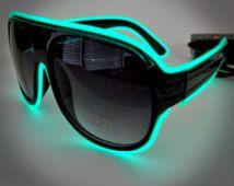 EL Wire Aviator Sunglasses - Light Up Sunglasses great for Burning Man…
