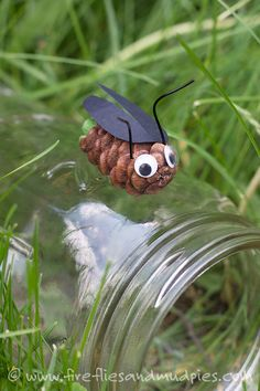 Create and Catch Pine Cone Fireflies | Fireflies and Mud Pies