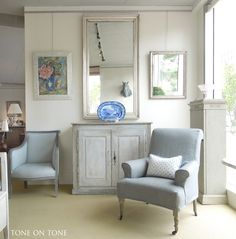 Wonderful Gustavian Swedish Antiques from Tone on Tone - love the mix Loi and Tom achieve in their shop in Bethesda, MD