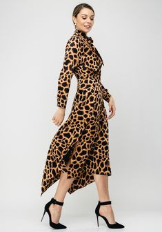 Brand: Style Code: Colour: BEI Sleeves: Long Sleeves Features: Animal print, long sleeves, wrap over design, V neckline and pussy Neckline, Long Sleeve, Sleeves, Design, Vintage, Color, Dresses, Style, Fashion