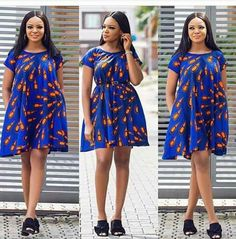African Print Dress African ankara Dress African Bridesmaid Ankara Knee lenght dress African clothing for women Ankara Dress Short Ankara Dresses, Ankara Gown Styles, African Fashion Ankara, Latest African Fashion Dresses, African Dresses For Women, African Print Dresses, African Print Fashion, African Attire, Ankara Tops
