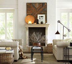 Fireplace Between Windows On Pinterest Master Bedroom