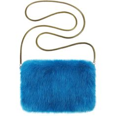Kingfisher Faux Fur Chain Bag ($91) ❤ liked on Polyvore featuring bags, handbags, shoulder bags, chain shoulder bag, white handbags, chain handbags, faux fur purse and faux fur handbags