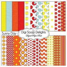 Sunny Day Digital Scrapbook Kit in Yellow by DigiScrapDelights