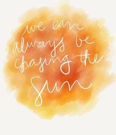 Chasing the Sun - Sara Bareilles