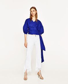 ZARA - WOMAN - CROSSOVER BLOUSE