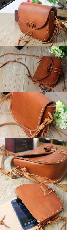 Handmade shoulder bag leather Satchel School crossbody messenger Shoul | EverHandmade