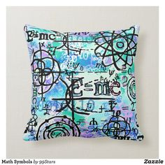 Math Symbols Throw Pillow