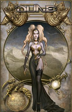 Princes Irulan of Dune. Somehow I don't think is how Frank Herbert envisioned her. Dune Book, Dune Series, Dune Frank Herbert, Character Art, Character Design, Character Concept, Dune Art, Classic Sci Fi, Sci Fi Characters