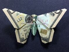 Money Origami Butterfly - Made with $10 bill