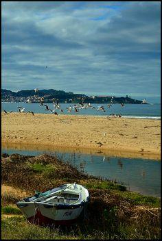 Playa America, Galicia, Spain