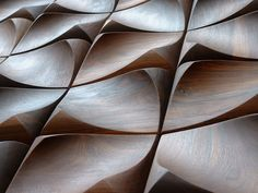 LUV Living a Unique Vision // Solid North American hardwood dune inspired relief wall tiles by Urbanproduct