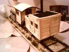 match stick crafts - a train