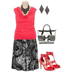 """""""plus size summer time"""" by penny-martin on Polyvore"""