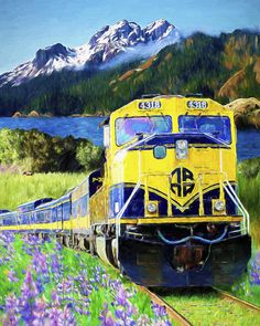 Alaska Railroad Painting by David Wagner