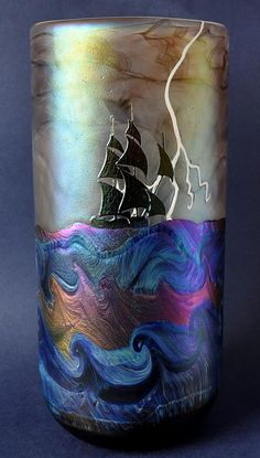 The Tempest Vase No2 by Richard Golding Station Glass