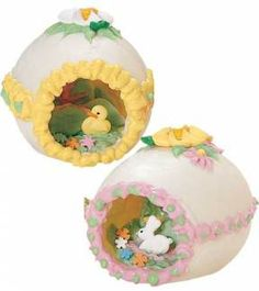 Sugar eggs.  Yep, had one of these.  It stayed up in the cupboard in the laundry room, only came out at Easter.