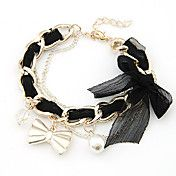 Alloy Lace Bowknot Pattern Bracelet – USD $ 5.99