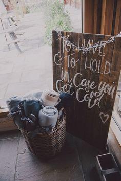 Wedding Blankets Warm Cosy Idea Sign Chic Rustic Grey Barn Wedding www.kevelkinsphot… – All Part Ideas Rustic Wedding Signs, Chic Wedding, Wedding Tips, Perfect Wedding, Fall Wedding, Wedding Venues, Wedding Planning, Dream Wedding, Wedding Reception