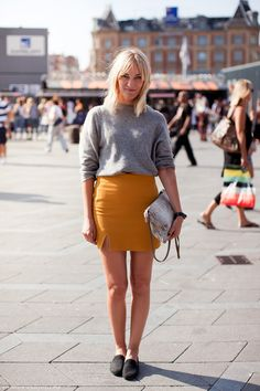skirt from Acne, sweater from Weekday, bag from Zara and shoes from Acne