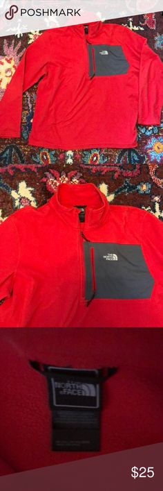 North Face men's fleece half zip Worn just a few times, priced to sell! No stains or visible signs of wear   Smoke free home; open to reasonable offers The North Face Jackets & Coats Lightweight & Shirt Jackets