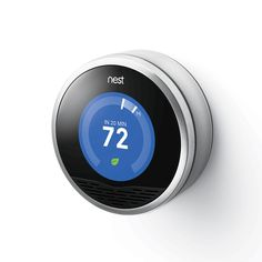 Nest Learning Thermostat - Products - Dwell reinvents the boring thermostat. makes efficiency sexy. Nest Smart Thermostat, Smart Home Design, Home Tech, Looks Chic, Winter Warmers, Ways To Save, Save Energy