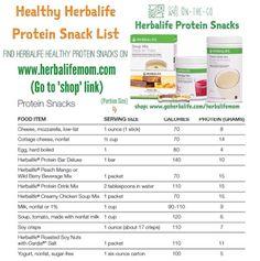 Healthy Herbalife Protein Snack List For product information: https://www.goherbalife.com/brandiherren/en-US