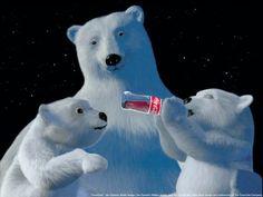 This adorable image of the Coca Cola polar bears is a Giclee print on canvas. (Other Coke polar bear prints available. Polar Bear Wallpaper, Snowman Wallpaper, Christmas Wallpaper, Christmas Desktop, Coca Cola Vintage, Coca Cola Christmas, Christmas Ad, Christmas Images, Christmas Items