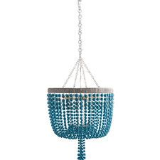 Arteriors 86763 Viola Turquoise Chandelier chandelier with turquoise crackle resin beads that drape over an iron framework, secured with nickel finish iron wire wrapped top ring and delicate chain. Turquoise Chandelier, Coastal Chandelier, Coastal Lighting, Beaded Chandelier, Mini Chandelier, Turquoise Glass, Coastal Decor, Home Lighting, Chandelier Lighting