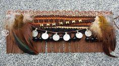 Foto de Cubrebotas etnico apache style plumas