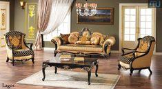 Model Kursi Tamu Jakarta Ukir Jepara Furniture Showroom, Sofa Furniture, Furniture Sets, Ottoman Sofa, Sofa Bed, Turkish Furniture, Country Sofas, Gold Sofa, Sofa Set Designs