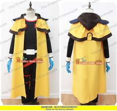 Outlaw Star Gene Starwind Cosplay Costume with cape