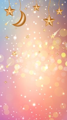 Pink and gold stars moon Moon And Stars Wallpaper, Flowery Wallpaper, Star Wallpaper, Laptop Wallpaper, Kawaii Wallpaper, Pastel Wallpaper, Love Wallpaper, Cellphone Wallpaper, Pretty Backgrounds