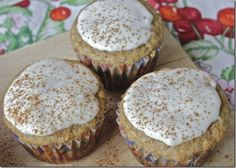banana bread muffins with cream cheese glaze - Continued!