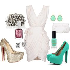 Too bad white isn't my color...I like the dress!