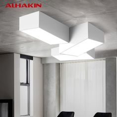 ALHAKIN Modern Ceiling Mounted Lamps 24-42W Black and White Living Room Ceiling Lamp Indoor Ceiling Lighting Lamparas De Techo