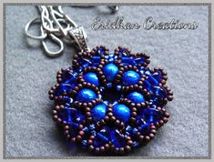 *P Beaded pendant Rosetta  tutorial by EridhanCreations on Etsy, $4.00