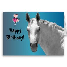 Dapple Grey Horse Greeting Cards #horse #birthday #cards
