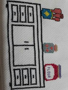 This Pin was discovered by Ayş Wool Embroidery, Applique Embroidery Designs, Cross Stitch Embroidery, Cross Stitch Patterns, Palestinian Embroidery, Needlepoint, Diy And Crafts, Blanket, Crochet