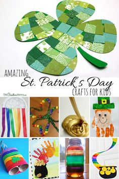 19 amazing st patricks day crafts for kids {shamrocks, and rainbows, and leprechauns Crafts For Seniors, Crafts For Kids To Make, Easter Crafts For Kids, Crafts For Teens, St Patricks Day Crafts For Kids, St Patrick's Day Crafts, Holiday Crafts, Holiday Fun, Spring Crafts