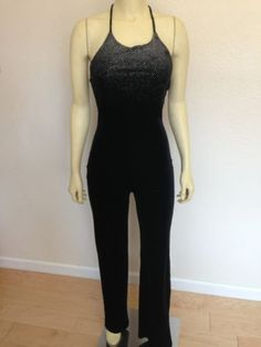 Pia Clothing  Sexy black Romper Disco Dance Costume Jumpsuit Small