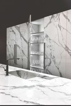 An unbroken top surface, with perfect integration between sink and worktop