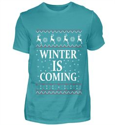 ✪ Winter is coming ✪ Basic Shirts, Winter Is Coming, Mens Tops, Fashion, Movie, Back Stitch, Moda, Fashion Styles, Fashion Illustrations